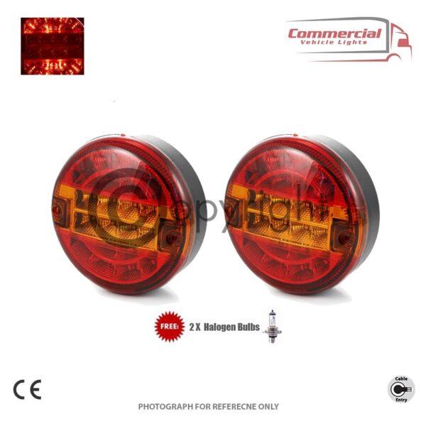 Hamburger 3 Function Tail Lights x 2 1