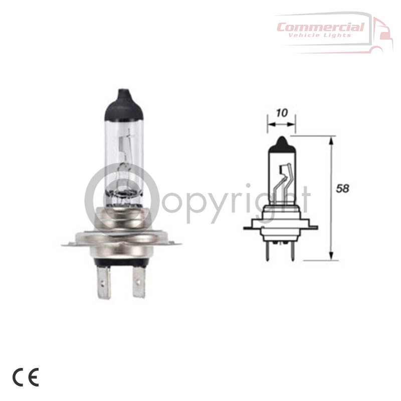 H7 499A 24v 70w Bulbs also know as 492 / 474 / 775
