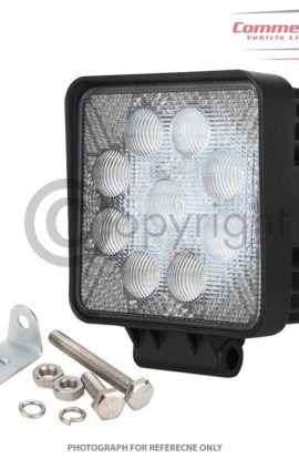 12/24 LED WORK LAMPS FOR DAF, SCANIA, VOLVO, HINO, IVECO, MAN, MERCEDES, RENAULT, MONTRACON, SCHMITZ, SDC AND DENNISON ALL CHASSIS TRAILERS