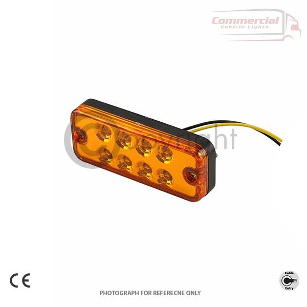 12/24 VOLT LED MARKER LIGHTS FOR DAF, SCANIA, VOLVO, HINO, IVECO, MAN, MERCEDES, RENAULT, MONTRACON, SCHMITZ, SDC AND DENNISON ALL CHASSIS TRAILERS