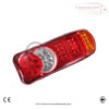 5 Function 24 v 46 LED Rear Truck Lorry Trailer Chassis Tail Lights X 2 5
