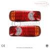 5 Function 24 v 46 LED Rear Truck Lorry Trailer Chassis Tail Lights X 2 2