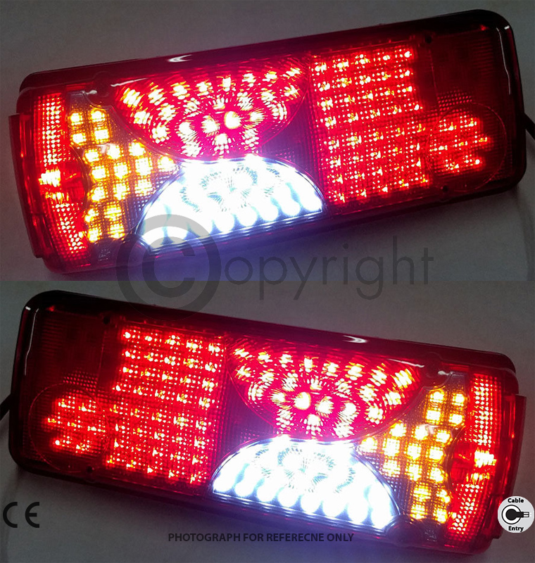 SCANIA REAR COMBINATION BULB TYPE TAIL LIGHTS / LAMPS FIT MOST TRAILERS & VANS