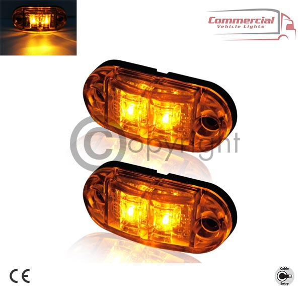 SIDE MARKER LIGHTS FOR ALL CHASSIS TRUCKS AND TRAILERS X 8
