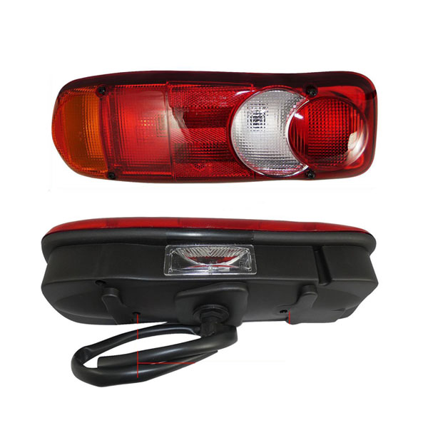 Truck lights with number plate light