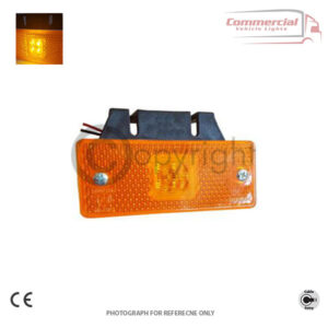 LED side marker lights with fitting bracket