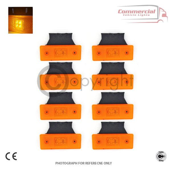 LED side marker lights with fitting bracket