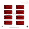 RED SIDE MARKER LIGHTS FOR ALL TRUCKS AND TRAILERS X 8 3