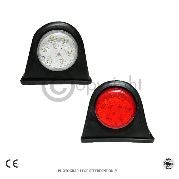 RED AND WHITE SIDE MARKER LIGHT