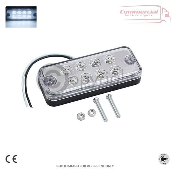 White LED side marker light