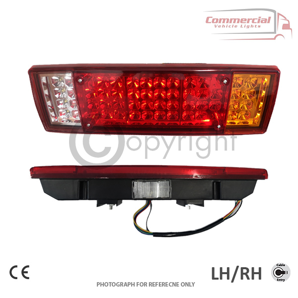 6 Function LED Rear Tail Truck Lorry Trailer Chassis Lights
