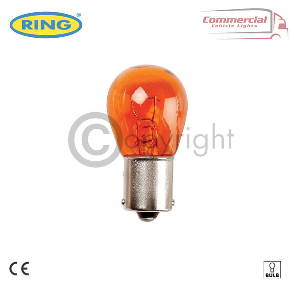 10 x RING R347 24 V 21 W AMBER INDICATOR BULBS