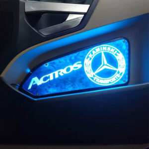 MERCEDES ACTROS LED BACK-LIT CUSTOM INTERIOR DOOR PANELS