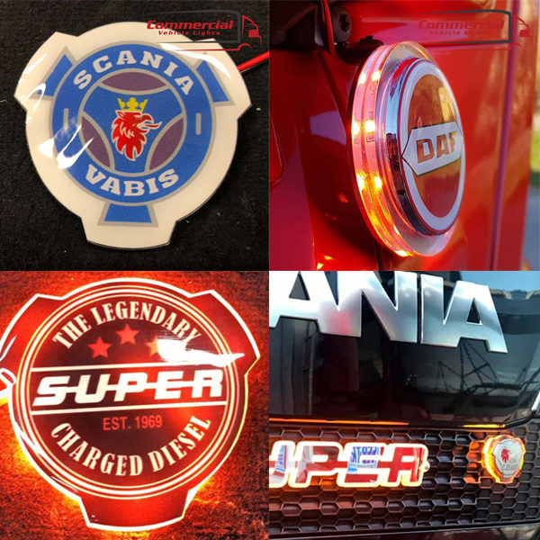 Scania, Daf, Volvo, Man LED grill badge