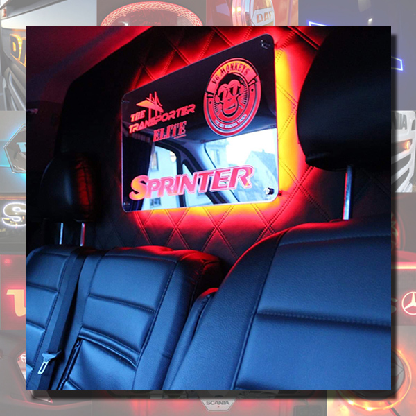 CUSTOM VAN MIRROR FOR SMALL TRUCK OR VAN 400X200mm