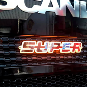 LED Scania Super Badge