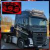 CUSTOM MIRROR / LIGHT BOARD FOR ALL TRUCKS & VANS 60x30cm 1
