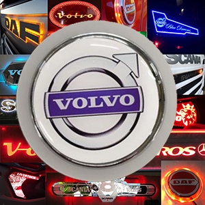 Volvo Blue LED Back;lit emblem