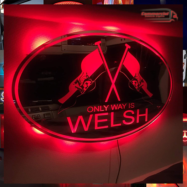 only way is welsh mirrored light board