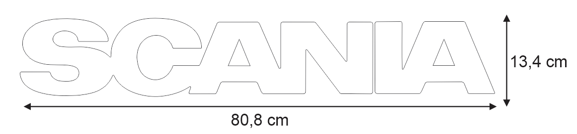 Scania Grille Badge Dimensions