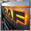 DAF BACK-LIT LED NAME BADGE CHROME EURO 6 2