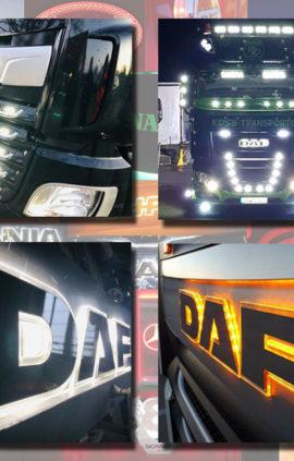 DAF BACK-LIT LED NAME BADGE WITH HIGH POLISHED FINISH
