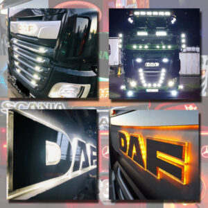 DAF BACK-LIT LED NAME BADGE WITH HIGH POLISHED FINISH