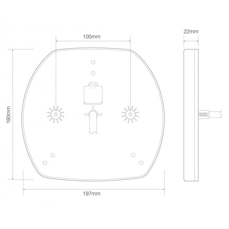 EU195LR2 Low Profile Truck / Trailer 6 Function Combination Lamps