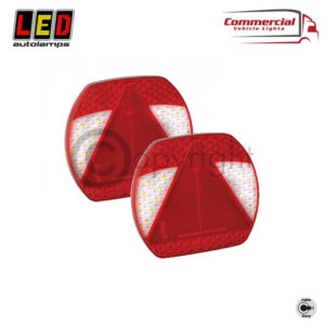 EU195LR2 Low Profile Truck / Trailer 6 Function Combination Lamps