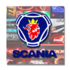 LIMITED EDITION SCANIA TRUCK MIRROR / LIGHT BOARD 50x50cm