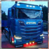 SCANIA GRILLE BADGE STAINLESS STEEL LED BACK-LIT 4