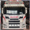 SCANIA GRILLE BADGE STAINLESS STEEL LED BACK-LIT 1