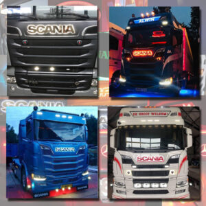 SCANIA GRILLE BADGE STAINLESS STEEL LED BACK-LIT