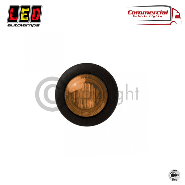 SIDE MARKER LIGHT AMBER 28 MM DIAMETER