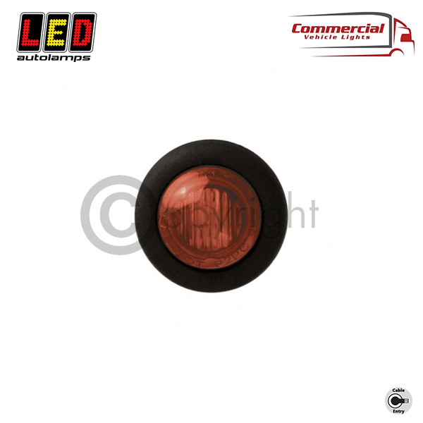 SIDE MARKER LIGHT RED 28 MM DIAMETER