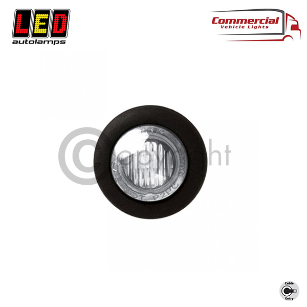 SIDE MARKER LIGHTWHITE 28 MM DIAMETER