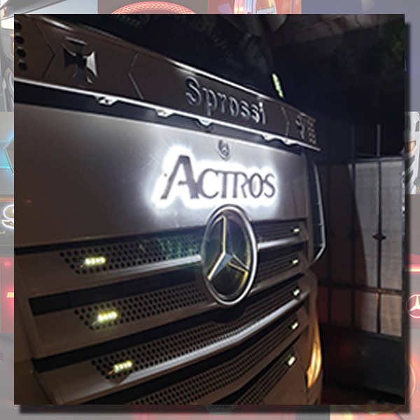 ACTROS BACK-LIT LED NAME BADGE