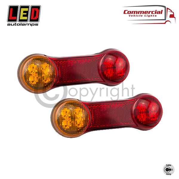 DogBone Stop / Tail / Indicator / Reverse Compact Combination Lamp x 2