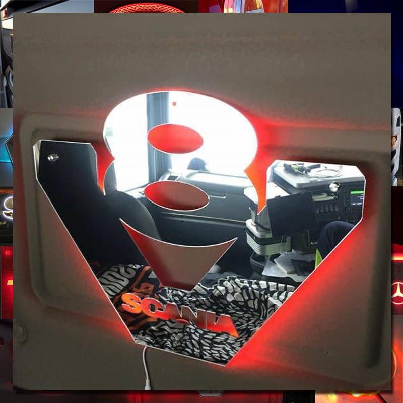 Scania V8 Custom Truck Mirrors 45x45 cm