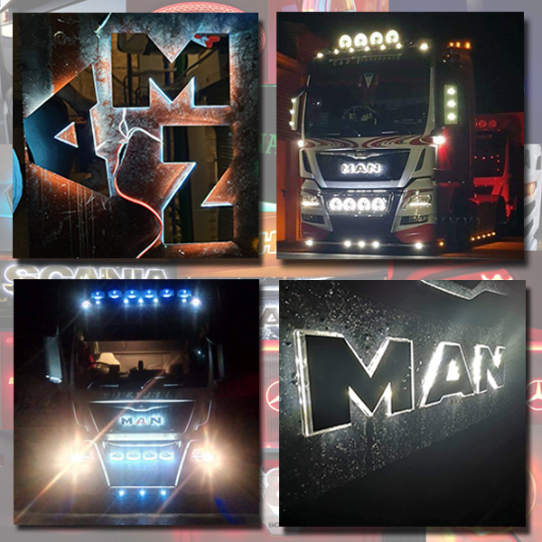 MAN BACK-LIT LED NAME BADGE