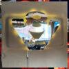 SCANIA V8 MIRROR / LIGHT BOARD FOR ALL TRUCKS 55x45cm 2