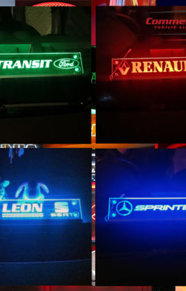 VAN OR CAR MULTIFUNCTION LED WINDSCREEN SIGN 500x100 mm