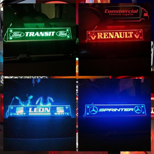 VAN OR CAR MULTIFUNCTION LED WINDSCREEN SIGN 500x100 mm