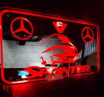 MERCEDES SPRINTER INTERIOR LED MIRROR 600x330mm