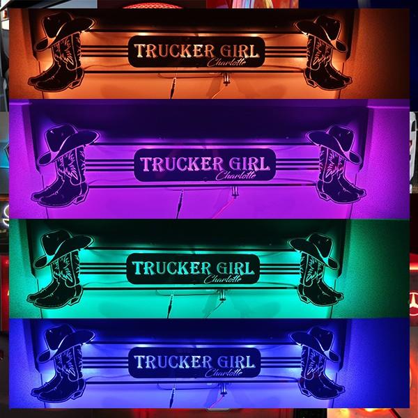 Trucker Girl Bulkhead Mirror