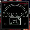 MAN LED WINDSCREEN SIGNS 150x150mm x 2 1