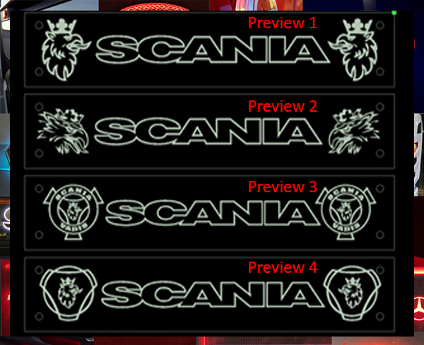 Scania Window Signs