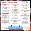 TRUCK ILLUMINATED LED HEADBOARD, NAMEBOARD, FRONT SIGN