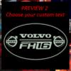 VOLVO BULKHEAD MIRROR / LIGHT BOARD 60x40 cm 1