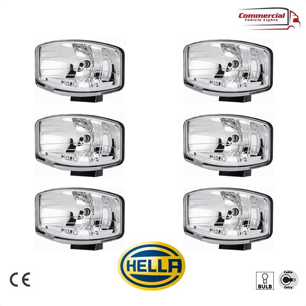 HELLA Jumbo 320 FF Spot Light / Position Lights Halogen x 6